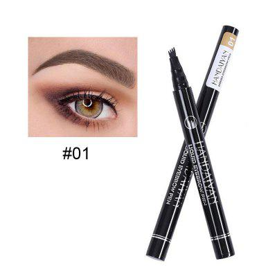 Waterproof and Durable Four-Pronged Head Liquid Eyebrow Pencil