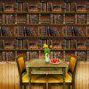 Creative Retro Bookcase PVC Waterproof Self-adhesive Wallpaper - MULTI