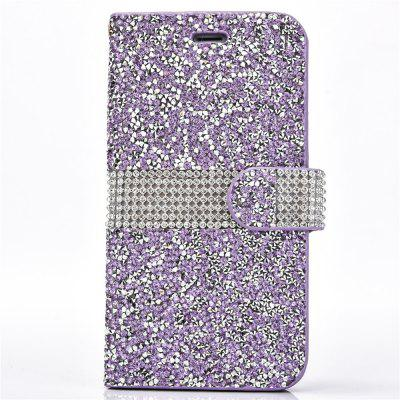 For iPhone 6S Crystal Rhinestone Flip Cover Card Holders Wallet Cases