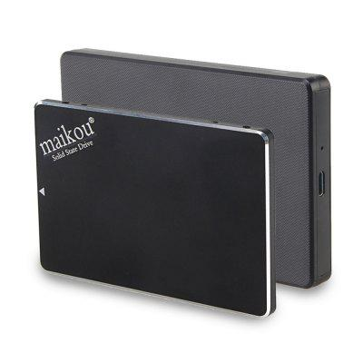 MAIKOU 2 in 1  6.0Gb/S USB3.0 SATA to Type C 120GB mobile solid state drive