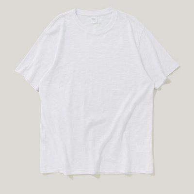 INFLATION Spring and Summer Solid Color Comfortable Men'S Short-Sleeved T-Shirt