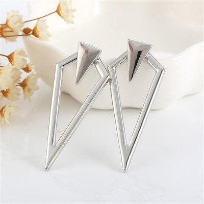 Individual Lady Asymmetric Geometric Long Pointed Earrings