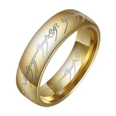 Fashion The Lord of The Rings voor mannen 18K Gold Plating roestvrij stalen sieraden