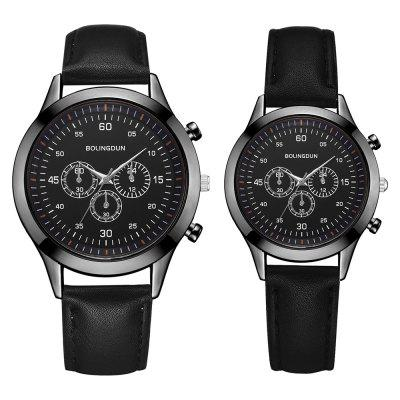 Xr3225 Couple Watch Three Eyes Six Needle Business Men And Women Watch