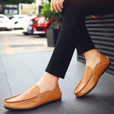 Men Casual Loafers Genuine Leather Moccasins Shoes