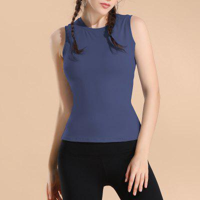 The Back Hollow Out Sleeveless Sports Vest Running Yoga Sports