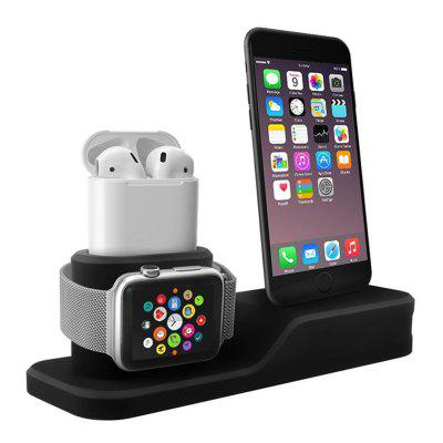 Support de recharge en silicone 3 en 1 pour iPhone pour Apple Watch / AirPods