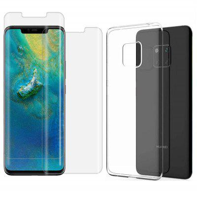 Protection Cover TPU Case + curved surface screen glass for Huawei Mate 20 Pro