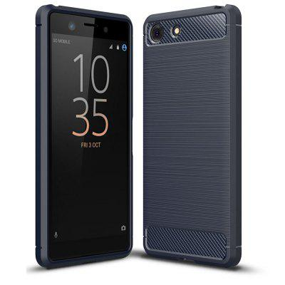 Luxe Carbon Soft Case voor Sony Xperia XZ4 Compact