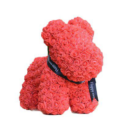 Rose Bear Puppy Eternal Flower Valentine  's Day