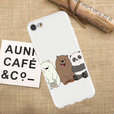 Three Side by side Bears TPU Protective Flexible Case for iPhone 7