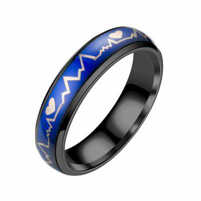Fahsion Titanium Steel Color Changing Mood Lovers Ring for Lovers Romantic