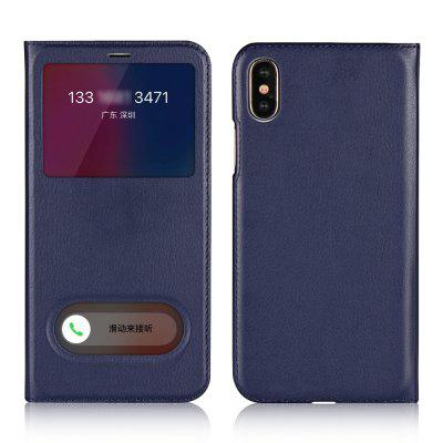 For IPhone X Slim Dual Window Protector Case