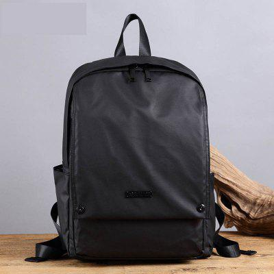 Male Shoulder Bag Student Waterproof Square Backpack