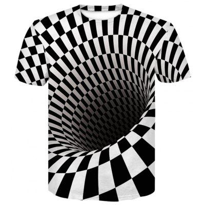 Men's  Summer Short Sleeve 3D Digital Print Vortex T-Shirt