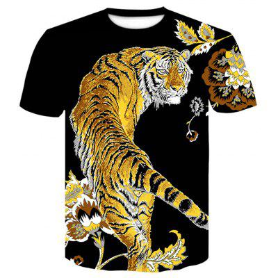 Men's  Summer Short Sleeve 3D Digital Print Creative T-Shirt
