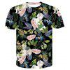 Men's  Summer Short Sleeve 3D Digital Print Creative T-Shirt - MULTI-A