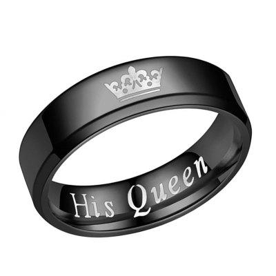 The New Her King Il suo Queen Fashion Couple Ring