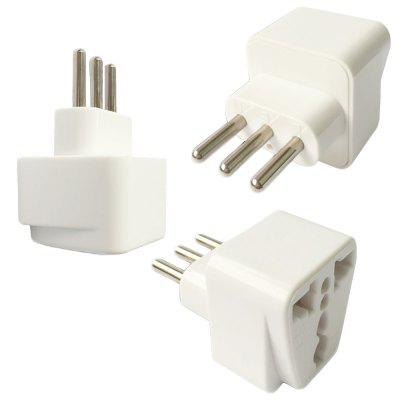 Minismile 3PCS 3Pin Universele Stekker Travel Power Adapter Oplader Type L voor Italië