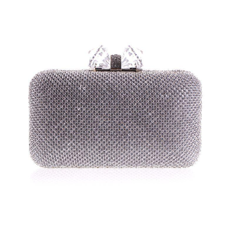 Women'S Day Butterfly Lock Set Auger Dinner Bag Fashion Chain Hand Bag