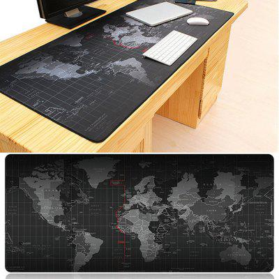 World Map Anti-skid Rubber Mouse Pad Oversized Non-slip Desktop Keyboard Mat