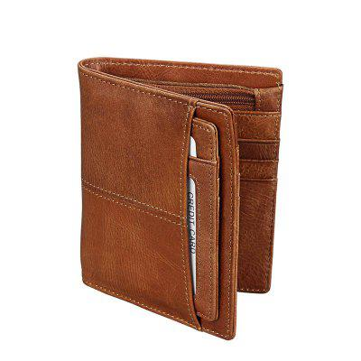 Men's Leather Wallet Short-style European And American Wind Oil Wax Wallet