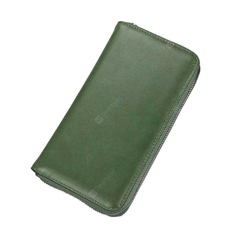 Leather-in-one Wallet Lady's Long-style Card