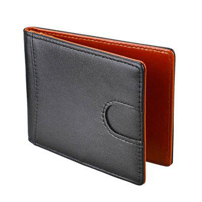 Leather Mini-wallet For European And American Men