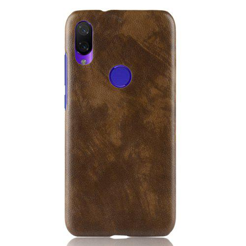 Custodia rigida per PC in pelle Litchi Leather Skin di lusso per Xiaomi Redmi Note 7