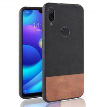 c0cf8c2fb55 24% OFF Silicone Edge Leather Fabric Shockproof Cover Case for Xiaomi Redmi  Note 7