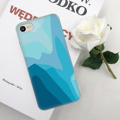 Blue Irregular Water Pattern TPU Protective Flexible Soft Case for iPhone 6