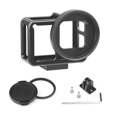CNC Aluminum Alloy Protective Case Cage Mount for GoPro Hero 7 6 5 Black 52mm UV