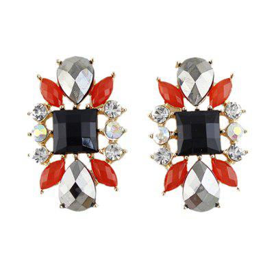 colorful flower stud earrings for lady