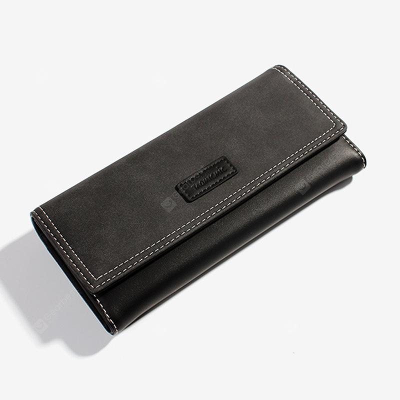 Ladies Frosted Long Purse - Black