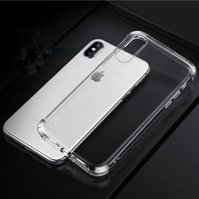phone case for iphone x/xs clear shockproof tpu 6d airbag cover