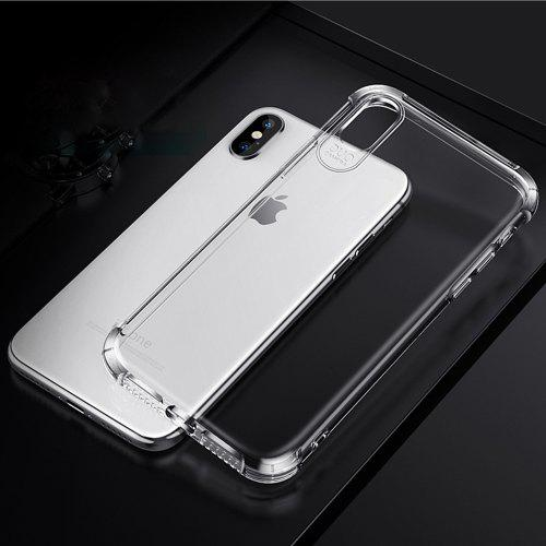 new concept 221e7 9d8b0 Phone Case for iPhone X/XS Clear Shockproof TPU 6D Airbag Cover