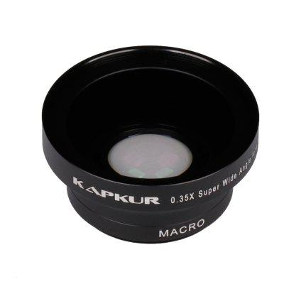 KAPKUR Mobile phone Lens 0.35XSupper Wide Angle 2in1 Lens Universal