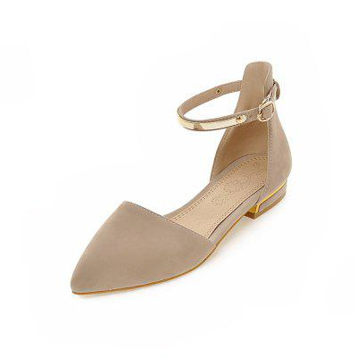 Summer Sandals with Pointed Frosted Zippers
