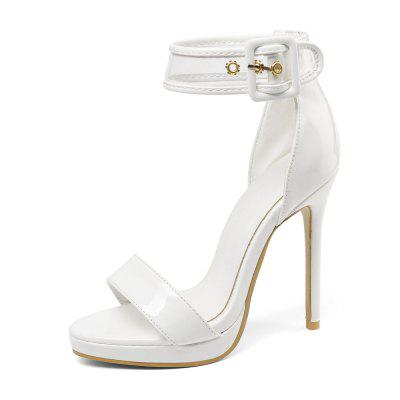 12 Cm High Wedding Sandals with Open Toe