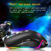 YWYT G827 macro programming mouse RGB lighting USB cable game e-sports mouse - BLACK