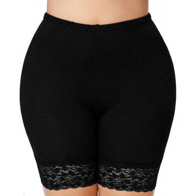 Splicing Lace High Waist Package Hip Shorts