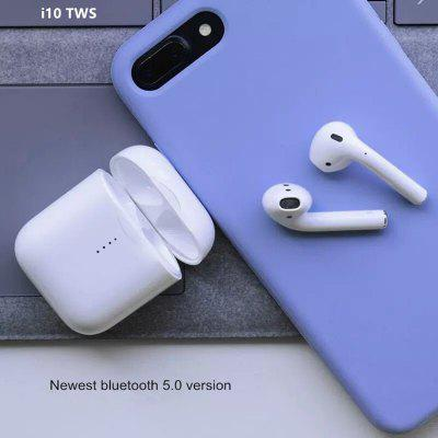 New i10 TWS Bluetooth Earphones Stereo Wireless Charging Earbuds Bluetooth 5.0