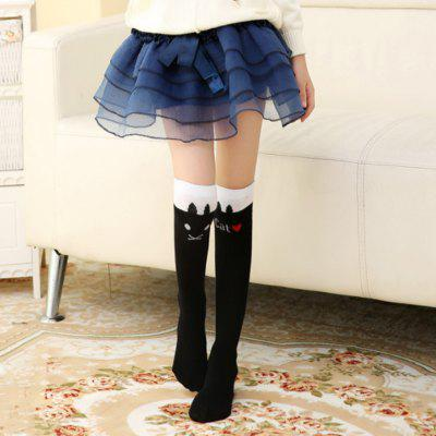Girl Cartoon Striped Stockings