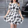 Girl Printed Chiffon Sleeveless Sling Dress - WHITE