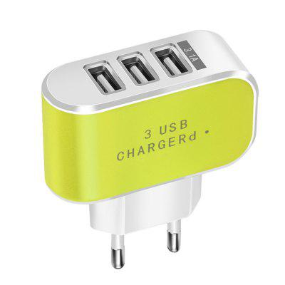 3USB Port Home Travel AC Wall Power Charger Adapter