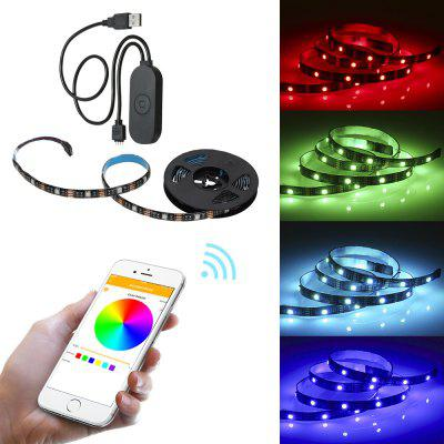 5m Wifi Smart 5050RGB Strip Lights Work With App and Alexa Assistant - BLACK