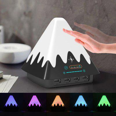 Colorful Gesture Sensing Snow Mountain Night Light with USB Charging Port