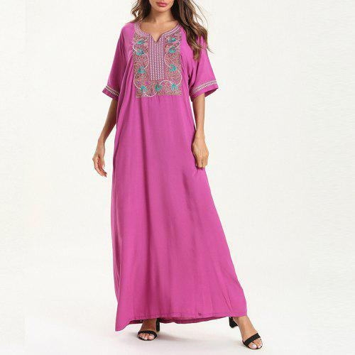 1e2bd42610f Ethnic Style Embroidered Casual Maxi Dress -  26.14 Free Shipping ...