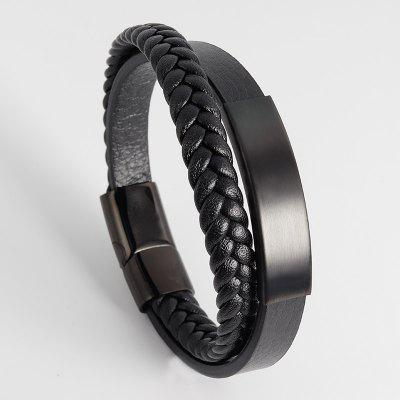 Titanium steel Bracelet Men Leather Belt Boat Anchor Wristband Bangle Bracele