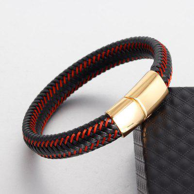 Men Magnetic Braided Leather Bracelet Jewelry Personality Accessories